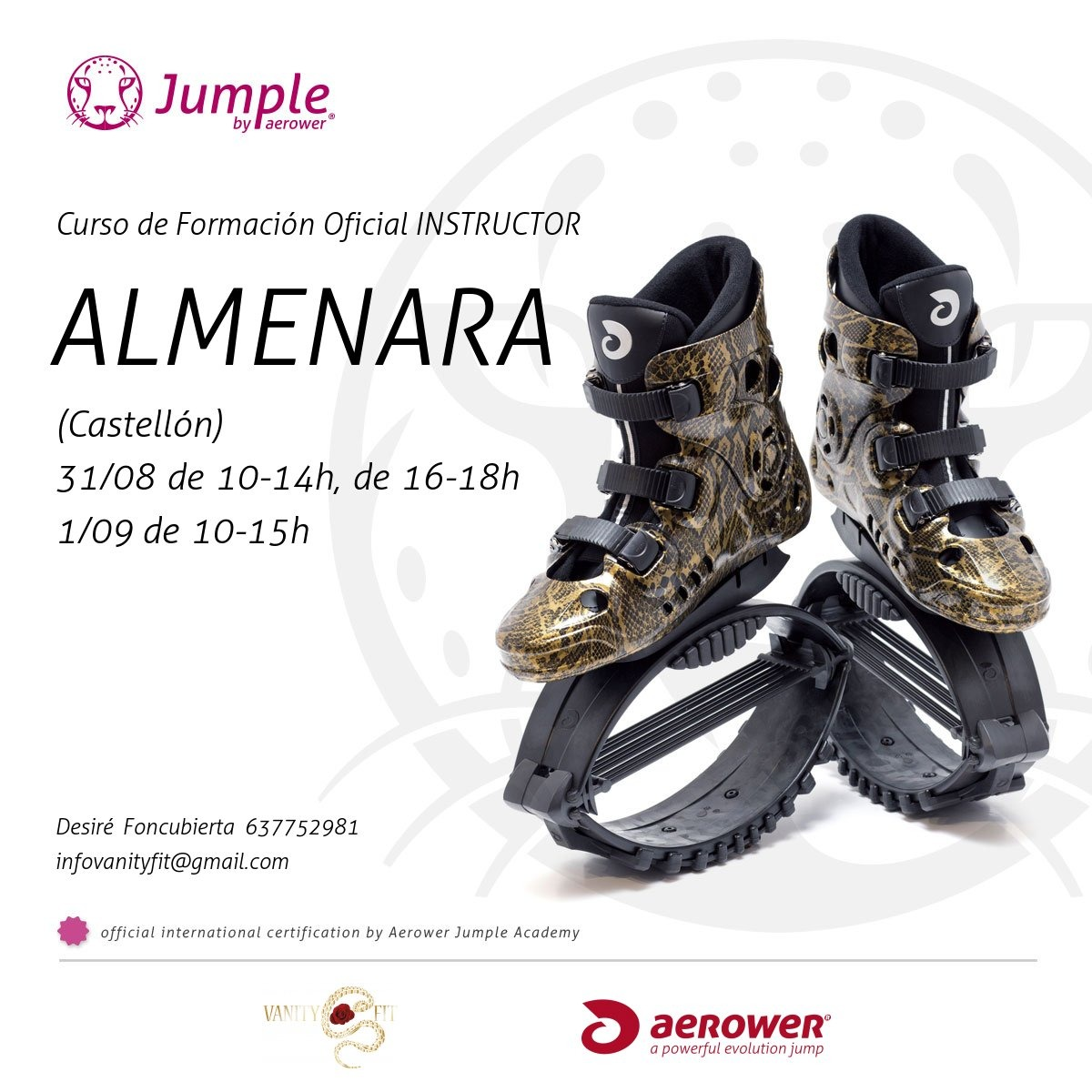 formacion oficial instructor jumple aerower